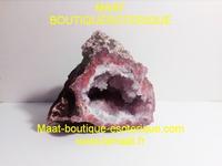 Druse Cristal de Roche rosé Duo