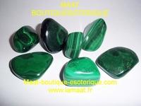 Malachites pierres roulées