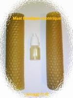Bougie cire bio d'abeille gauffrée