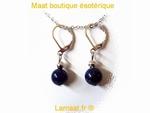 Boucle d'oreille Lapis-lazuli