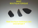 Obsidienne pierre roulée Lot