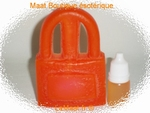 Bougie cadenas orange avec son huile