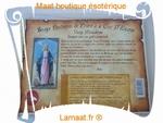 Bougie parchemin de prière à la cire d'encens Vierge Miracul